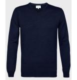 Michaelis Pullover navy merino wol/acryl blauw