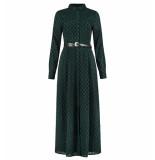 Nikkie Lange jurk n5-510 1905 stella maxi dress groen