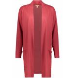 Esprit Lang vest van slub jersey 079ee1k034 e610 rood