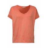 EDC Shirt met casual model 079cc1k012 c805 oranje
