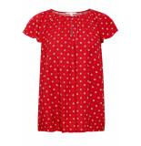 Esprit Shirt met print en vleugelmouwen 079ee1f004 e610 rood