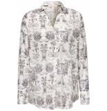 Esprit Overhemd blouse met allover print 079ee1f006 e110 wit
