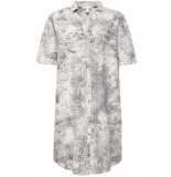 Esprit Overhemd jurk met artistieke print 079ee1e012 e001 wit