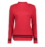 Zoso Kelly 2 sweater red/black rood