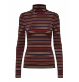 Only Live love roll neck striped blauw