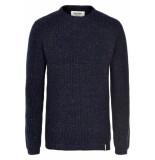 Anerkjendt Aktheo knit blue melange blauw