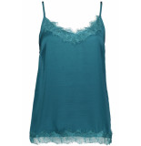 Saint Tropez Singlet top with lace r1071 8309 dragonfly blauw
