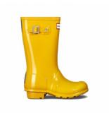 Hunter Regenlaars original kids gloss yellow geel