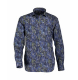 State of Art Overhemd shirt ls printed poplin blauw