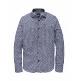 Vanguard Overhemd longsleeve shirt check leeds lavender lustr blauw