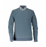State of Art Pullover all printed navy blauw