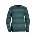 State of Art Trui striped green blue groen