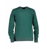 State of Art Trui v-neck green groen