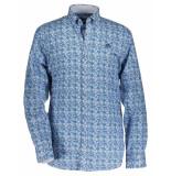 State of Art Overhemd angular amoebe blue blauw