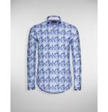 Blue Industry Overhemd blooming blue melange blauw