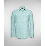 Blue Industry Overhemd organic print mint groen