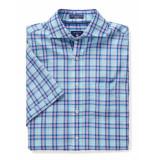 Gant Overhemd check shirt light blue blauw