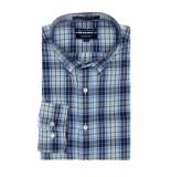 Gant Overhemd n crosstown oxford check longsleeve bd forest green groen