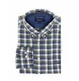 Gant Overhemd edgemere heather twill check ls bd cypress green groen