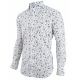 Cavallaro Cavallaro overhemd print palma 1091021-10003 wit