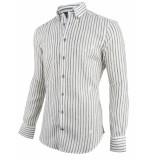 Cavallaro Cavallaro overhemd lino wit 1091036-10531 groen