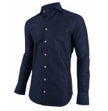 Cavallaro Cavallaro overhemd linnen blauw 1091059