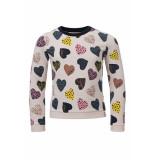 Looxs Revolution Sweater hartjes print voor meisjes in de kleur