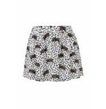 Looxs Revolution Wijd rokje panterprint voor meisjes in de kleur wit