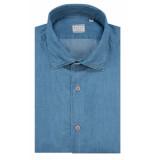 Xacus Classic fit overhemd met lange mouwen blauw