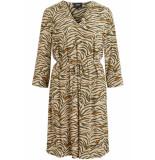 Object Objbay 3/4 dress aop seasonal 230298 humus beige