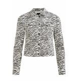 Object Objwin new denim jacket aop season 23030108 white/zebra wit