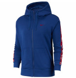 Nike W nsw hoodie fz logo tape 041053 blauw