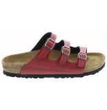 Birkenstock Florida pull up bordeaux vegan narrow rood