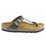 Birkenstock Gizeh magic snake khaki regular groen