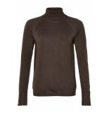 Numph Nufenne roll coll pullover bruin