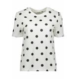 Pieces Pcria ss fold up print tee dark d2d 17096049 bright white/big dots wit