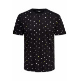 Only & Sons Onsdivision aop ss tee vd 22013659 black zwart