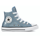 Converse All stars junior 661857c glitter blauw