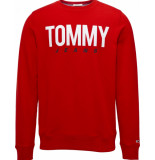 Tommy Hilfiger Essential-logo-crew-sweat blauw