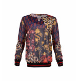 MAICAZZ Blouse lesh navy patch fa19.20.007 blauw