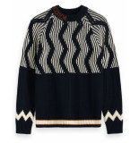 Scotch & Soda Pullover 152361 blauw