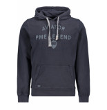 PME Legend Hooded dry terry psw195408 5281 blauw