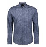 PME Legend Poplin print shirt psi195216 5281 blauw