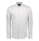 PME Legend Poplin print shirt psi195216 7003 wit