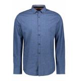 PME Legend Poplin print shirt psi195206 5281 blauw