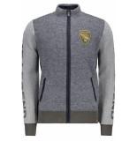 PME Legend Cotton zip jacket pkc195320 5281 blauw