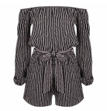 LOFTY MANNER Jumpsuit cherilyn black zwart