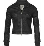 Geisha 95525-10 999 coated jacket black zwart