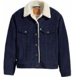 Levi's Sherpa corduroy trucker jacket blue blauw