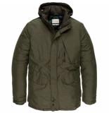 Cast Iron Semi long jacket shiftback parka deep depths groen